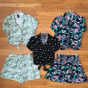 HOT TOPIC HER UNIVERSE TOPS SKIRT SHORTS SETS M